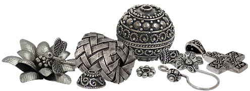 wholesale bali thai hill tribe sterling silver beads findings